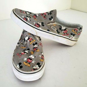 Vans Disney Mickey Mouse Gray Slip Ons